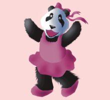 Ballerina Panda Baby Tee