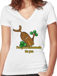 Sudowoodo Women's Fitted V-Neck T-Shirt