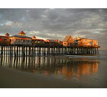 Pier Reflections - Old Orchard Beach, ME Photographic Print