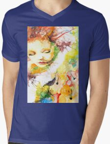 Look at the Flowers Mens V-Neck T-Shirt