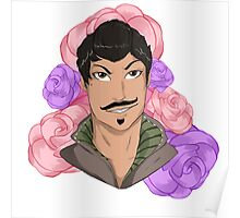 Dorian Pavus and Roses Poster
