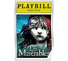 Les Miserables Playbill Poster