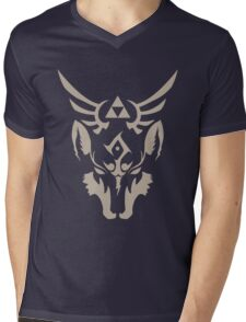 Wolf Link Blue Eyed Beast Mens V-Neck T-Shirt