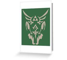Wolf Link Blue Eyed Beast Greeting Card