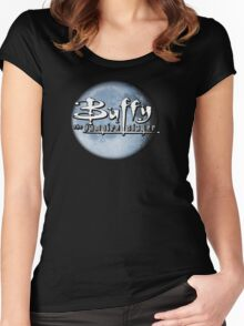 Buffy logo Women's Fitted Scoop T-Shirt