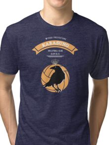 Karasuno Crest (light) Tri-blend T-Shirt