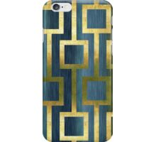Gold Green and Blue Geometric Pattern iPhone Case/Skin