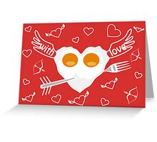 Breakfast for Lovers Greeting Card