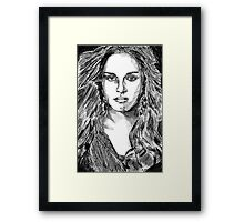 Kristen Stewart - The Twilight Actress Framed Print