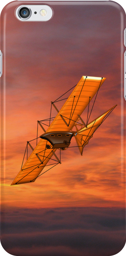 Concept Aerial Steam Carriage, England 1843 iPhone case by Dennis Melling