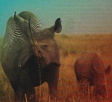 Abstract Rhino by dannyivan