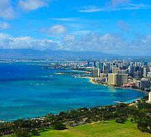 Honolulu city view by raymona pooler