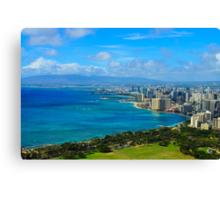 Honolulu city view Canvas Print