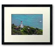 Honolulu lighthouse Framed Print