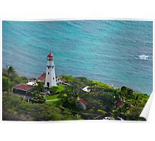 Honolulu lighthouse Poster