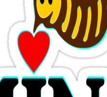 °•Ƹ̵̡Ӝ̵̨̄Ʒ♥Bee Mine-Cute HoneyBee Clothing & Stickers♥Ƹ̵̡Ӝ̵̨̄Ʒ•° Sticker
