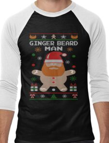 Ginger Beard Man Ugly Tees Men's Baseball ¾ T-Shirt