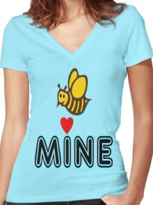 °•Ƹ̵̡Ӝ̵̨̄Ʒ♥Bee Mine-Cute HoneyBee Clothing & Stickers♥Ƹ̵̡Ӝ̵̨̄Ʒ•° Women's Fitted V-Neck T-Shirt