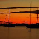 Sailboat Silhouettes at Sunset by Joshua McDonough