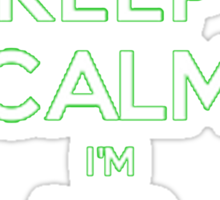 Keep Calm, I'm Airborne Sticker