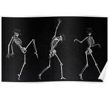Dancing Skeletons Poster