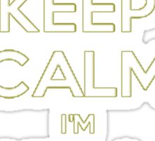 Keep Calm I'm Heliborne trained! Sticker