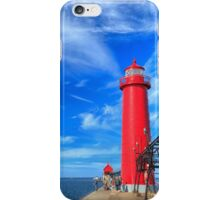 Grand Haven South Pierhead Lights iPhone Case/Skin