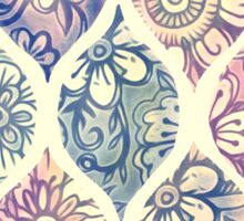 Patterned & Painted Floral Ogee in Vintage Tones Sticker