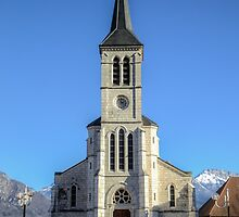 Church in French Alps, Sevrier by Joshua McDonough