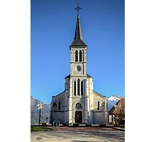 Church in French Alps, Sevrier Photographic Print