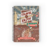 Vintage Taiwan travel illustration Spiral Notebook