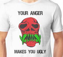 Anger Makes You Ugly Skull Unisex T-Shirt