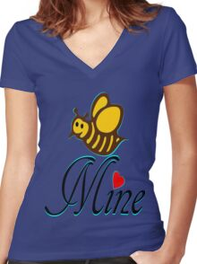 °•Ƹ̵̡Ӝ̵̨̄Ʒ♥Bee Mine-Cute HoneyBee Clothing & Stickers♥Ƹ̵̡Ӝ̵̨̄Ʒ•° Women's Fitted V-Neck T-Shirt