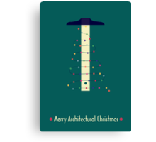 Merry Architectural Christmas Canvas Print