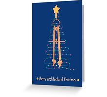 Merry Architectural Christmas Greeting Card