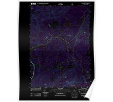 USGS TOPO Map New Hampshire NH Bethlehem 20120615 TM Inverted Poster
