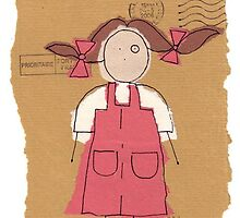 red pinafore by Jonesyinc