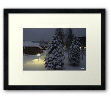 Peaceful Winter Evening Framed Print