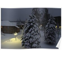 Peaceful Winter Evening Poster
