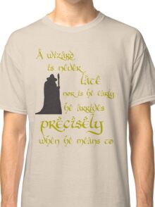 A wizard is never late Classic T-Shirt