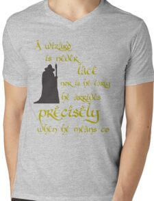 A wizard is never late Mens V-Neck T-Shirt