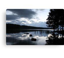 The lake at dusk Canvas Print