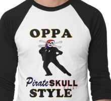★ټPirate Skull Style Hilarious Clothing & Stickersټ★ Men's Baseball ¾ T-Shirt