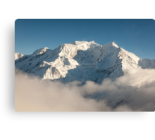 Mont Blanc in Winter Canvas Print