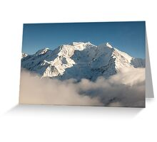 Mont Blanc in Winter Greeting Card