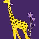 Funny Giraffe Roller Skating by Boriana Giormova