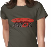 AMOK - tribal wave surfboard Womens Fitted T-Shirt