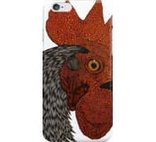 rooster with white and black feathers iPhone Case/Skin