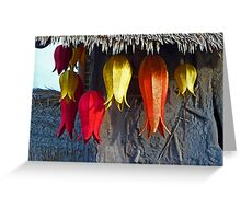 Tulip Lanterns Greeting Card