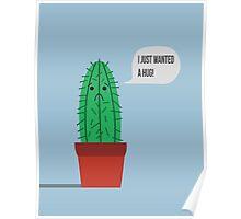 Cute Cactus Cartoon Poster